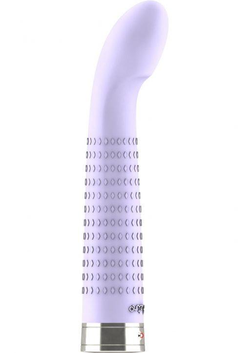 Retro Jet G-Spot Textured Silicone Vibrator Purple