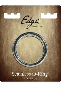 Edge Seamless O-Ring Metal Cockring Silver 2 Inch Diameter