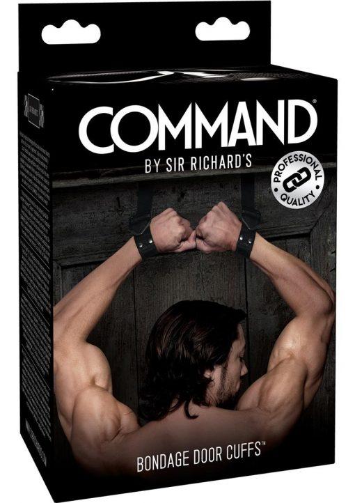 Sir Richard`s Command Bondage Door Cuffs Black Stainless Steel