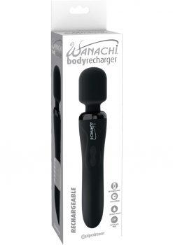 Wanachi Body Recharger Silicone Massager Showerproof Black
