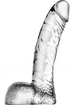 Naturally Yours Ding Dong Jelly Dildo With Balls Waterproof Clear