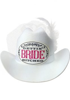 Bride Cowboy Party Hat With Veil