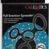 Full Erection Spreader Silicone Erection And Scrotum Enhancer Cock Ring Black