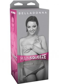 Main Squeeze Belladonna UltraSkyn Stroker Realistic Pussy Vanilla 7.5 Inches