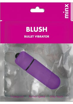 Minx Blush Bullet Vibrator Mini Waterproof Purple 2.25 Inch