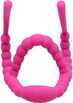 Frisky Petal Pusher Silicone Labia Spreader Pink