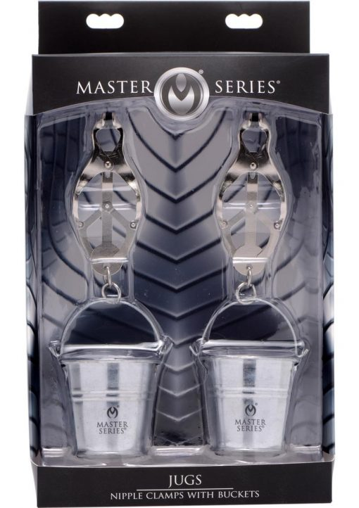 Master Series Nipple Clamps With Buckets Stainless Steel