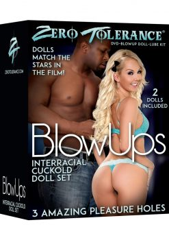 Zero Tolerance Blow Ups Interracial Cuckold Set 2 Dolls With Dvd And Lube Kit
