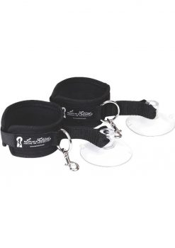 Lux Fetish Suction Cuffs 2 Piece Set Adjustable Black
