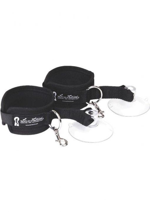 Lux Fetish Suction Cuffs 2 Piece Set Adjustable Black