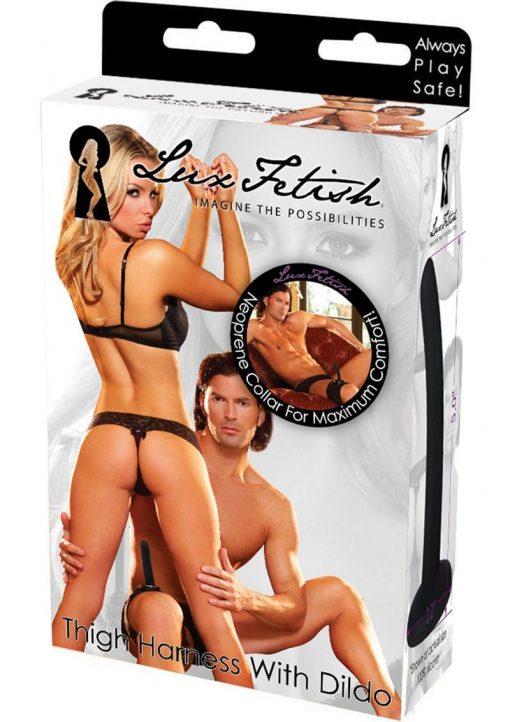 Lux F Thigh Harness W/dildo