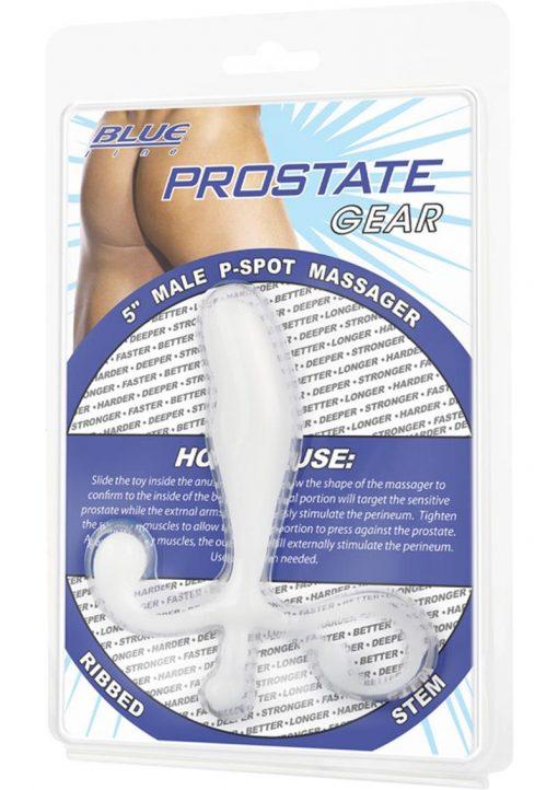 Blue Line Prostate Gear Male P-Spot Massager White 5 Inch