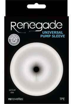 Renegade Universal Pump Sleeve Anal - Clear