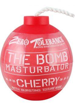 The Bomb Masturbator Cherry Textured Stroker Sleeve Red