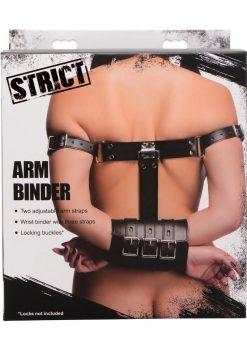 Strict Arm Binder Adjustable Restraint Straps Black