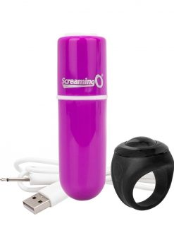 Vooom Wireless Remote Control Silicone USB Rechargeable Bullet Waterproof Purple