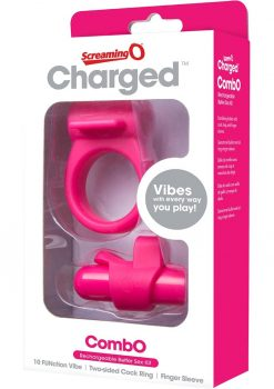 Charged Combo USB Rechargeable Silicone Kit 1 Waterproof Pink