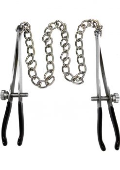 Rouge Tweeze Nipple Chain Adjustable Clamps Stainless Steel