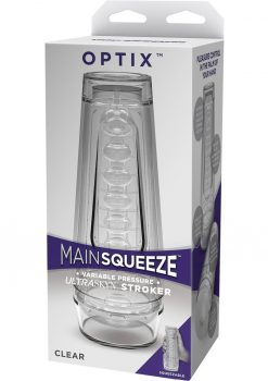 Main Squeeze Optix UltraSkyn Stroker Textured Clear 7.5 Inches