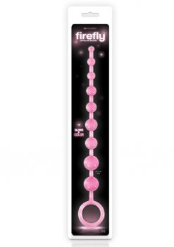 Firefly Pleasure Beads Glow In The Dark Anal Beads Pink