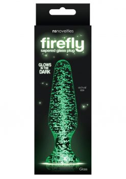 Firefly Tapered Glass Plug Glow In The Dark - Clear