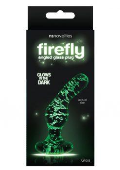 Firefly Angled Plug Glass Glow In The Dark - Clear