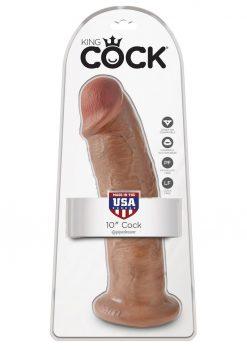 King Cock Realistic Dildo Tan 10 Inch