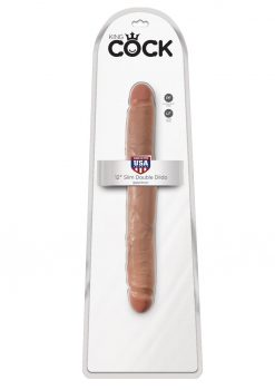 King Cock Slim Double Dildo Tan 12 Inch