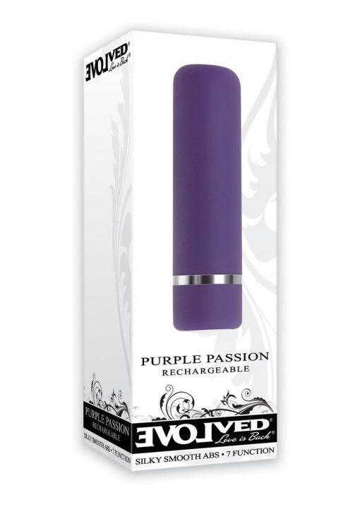 Purple Passion USB Rechargeable Bullet Waterproof Purple 2.8 Inch
