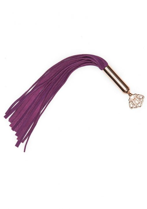 Fifty Shades Freed Cherished Collection Suede Mini Flogger Purple With Gold Color Handle