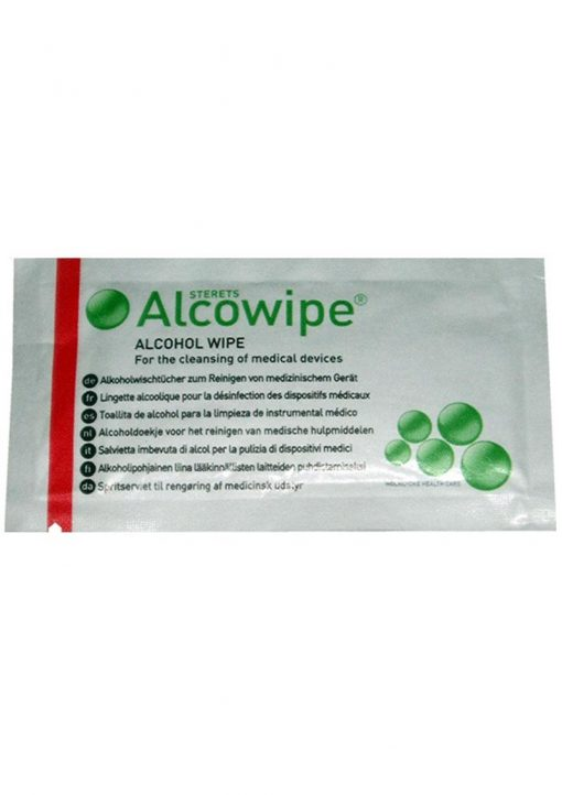 ElectraStim Consumables Alcowipe Alcohol Cleansing Wipes 10 Per Pack