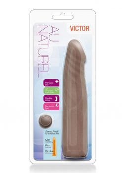 Au Naturel Victor Sensa Feel Dual Density Realistic Dong Chocolate 7.5 Inches