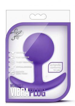 Luxe Wearable VibraPlug Silicone Duo Tone Anal Plug Purple 3.5 Inch