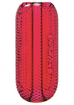 Jack It Stroker Jelly Textured Masturbator Crimson