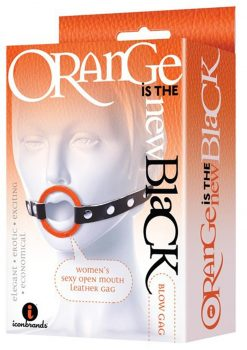 Orange Is The New Black Blow Gag Open Mouth Leatherette Ring Gag Orange