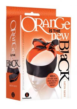 Orange Is The New Black Satin Sash Blindfold Orange And Black