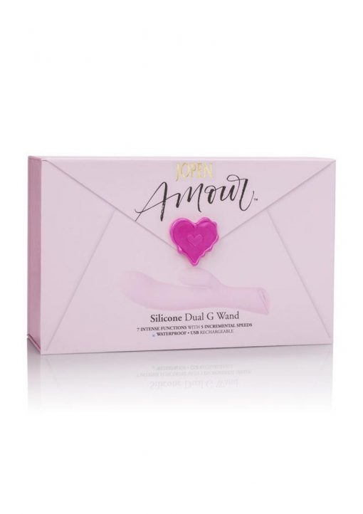 Jopen Amour Silicone Dual G Wand Waterproof Pink