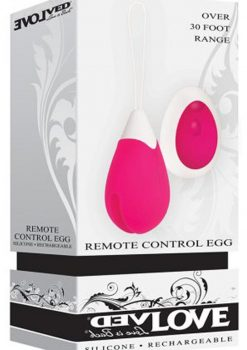 Evolve Remote Control Egg Silicone Waterproof Pink