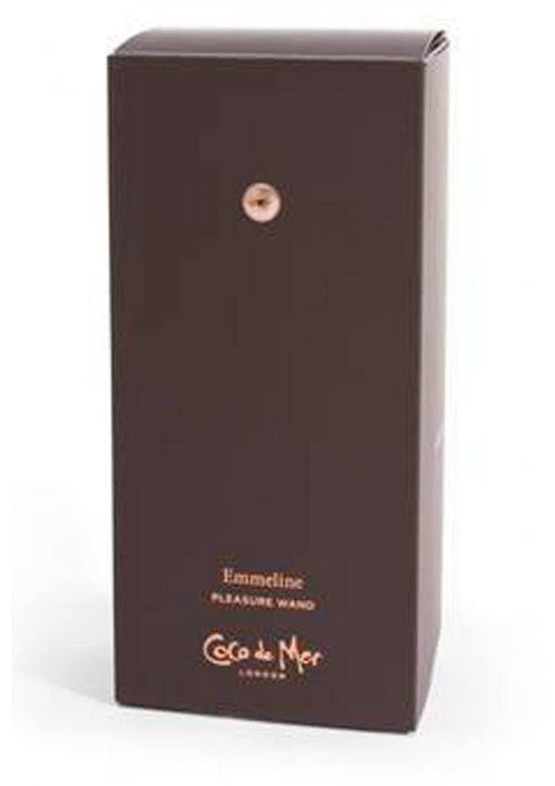 Coco De Mer Emmeline Pleasure Wand USB Rechargeable Silicone Wand Waterproof Brown