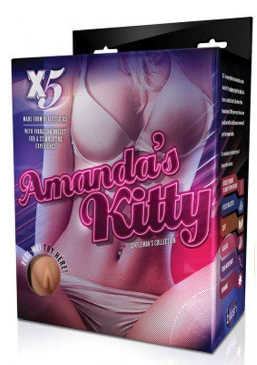 X5 Men Amanda`s Kitty Realistic Vagina With Bullet Beige