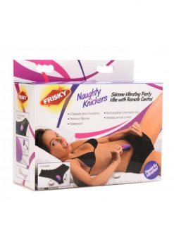 Frisky Naughty Knickers Silicone Vibrating Panty Vibe With Remote Control Waterproof Purple