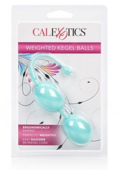 Weighted Kegel Balls Silicone With Retrival Cord Teal