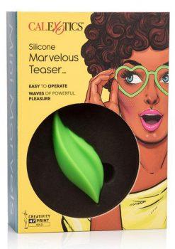 Calexotics Mini Marvelous Teaser Silicone Stimulator Waterproof Green