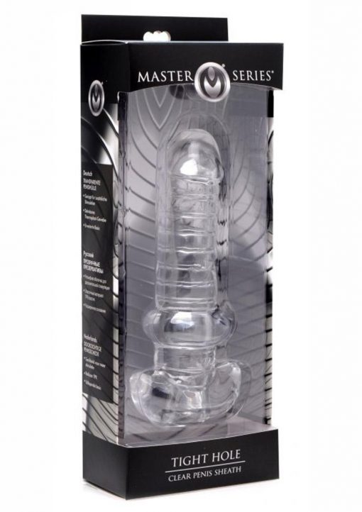 Master Series Tight Hole Clear Penis Sheath Sleeve Clear 6.5 Inch