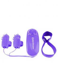 Neon Magic Touch Finger Fun Wired Remote Control Finger Ticklers Purple