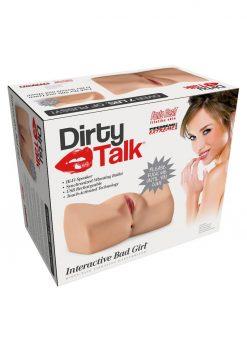 PDX Dirty Talk Interactive Bad Girl Vibrating Masturbator Flesh