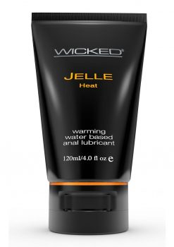 Wicked Jelle Heat Waterbased Anal Gel 4 Ounce