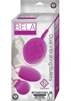 Bela Silicone Dual Vibrating Bullets Waterproof Purple
