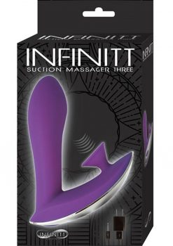 Infinitt Silicone Suction Massager Three Waterproof Purple 4.75 Inch