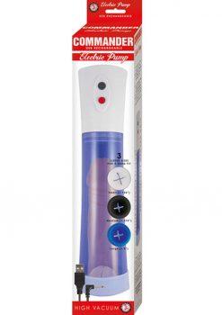 Commander USB Rechargeable Electric Pump Blue 11.5 Inch